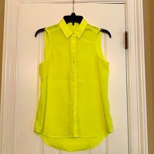 3 EXPRESS sleeveless button up shirts bundle